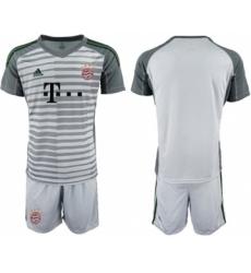 Bayern Munchen Blank Grey Goalkeeper Soccer Club Jersey