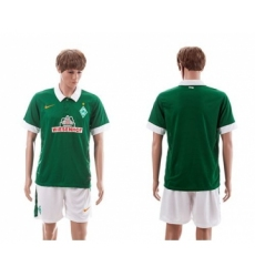 Bremen Blank Green Home Soccer Club Jersey