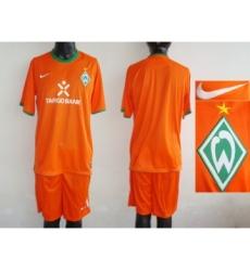 Bremen Blank Orange Third Soccer Club Jersey