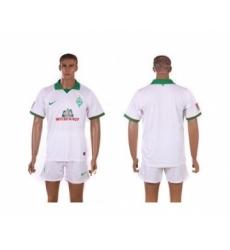Bremen Blank White Away Soccer Club Jersey