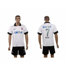 Corinthians #7 Pato White Home Soccer Club Jersey