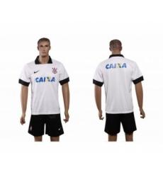 Corinthians Blank White Home Soccer Club Jersey