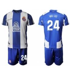 Espanyol #24 Wu Lei Home Soccer Club Jersey
