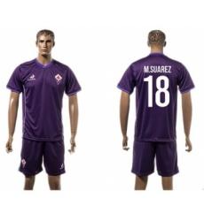 Florence #18 M.Suarez Home Soccer Club Jersey
