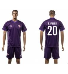Florence #20 B.Valero Home Soccer Club Jersey