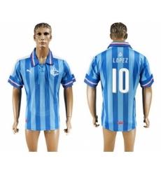 Guadalajara #10 Lopez Blue Soccer Club Jersey