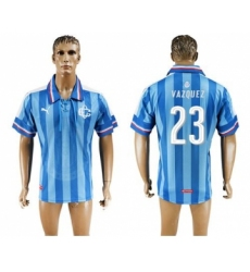 Guadalajara #23 Vazquez Blue Soccer Club Jersey