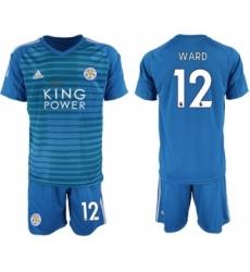 Leicester City #12 Ward Blue Goalkeeper Soccer Club Jersey