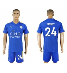 Leicester City #24 Mendy Home Soccer Club Jersey