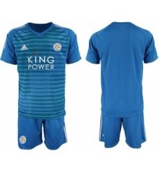Leicester City Blank Blue Goalkeeper Soccer Club Jersey
