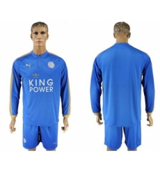 Leicester City Blank Home Long Sleeves Soccer Club Jersey