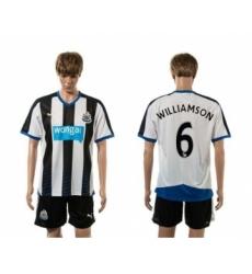 Newcastle #6 WILLIAMSON Home Soccer Club Jersey