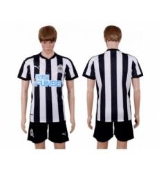 Newcastle Blank Home Soccer Club Jersey