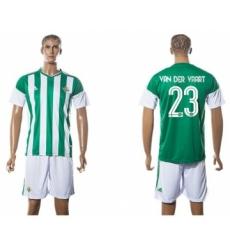 Real Betis #23 Van Der Vaart Home Soccer Club Jersey