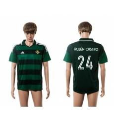 Real Betis #24 Ruben Castro Away Soccer Club Jersey