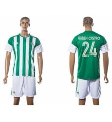 Real Betis #24 Ruben Castro Home Soccer Club Jersey