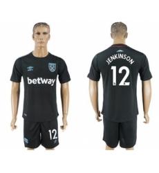 West Ham United #12 Jenkinson Away Soccer Club Jersey