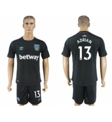 West Ham United #13 Adrian Away Soccer Club Jersey