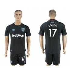 West Ham United #17 Obrien Away Soccer Club Jersey