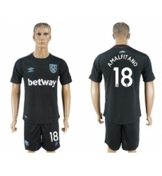 West Ham United #18 Amalfitano Away Soccer Club Jersey