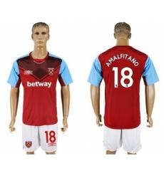 West Ham United #18 Amalfitano Home Soccer Club Jersey