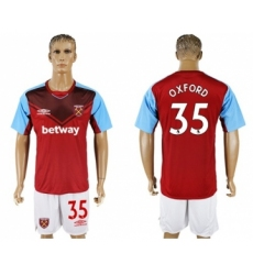 West Ham United #35 Oxford Home Soccer Club Jersey