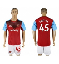 West Ham United #45 Knoyle Home Soccer Club Jersey