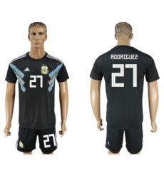 Argentina #27 Rodriguez Away Soccer Country Jersey