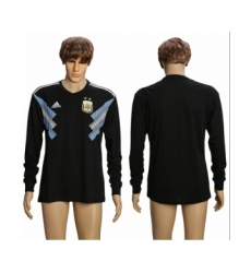Argentina Blank Away Long Sleeves Soccer Country Jersey