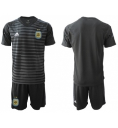 Argentina Blank Black Goalkeeper Soccer Country Jersey