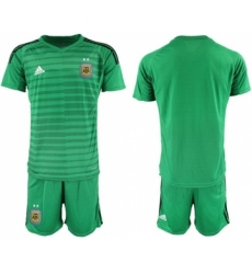 Argentina Blank Green Goalkeeper Soccer Country Jersey