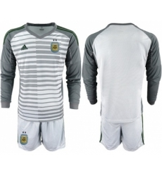 Argentina Blank Grey Long Sleeves Goalkeeper Soccer Country Jersey
