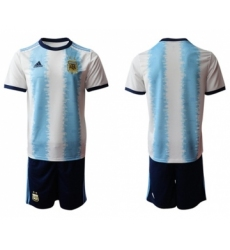 Argentina Blank Home Soccer Country Shorts