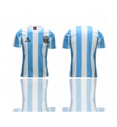 Argentina Blank White Throwback Soccer Country Jersey