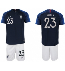 France #23 Areola Home Soccer Country Jersey
