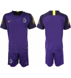 France Blank Purple Goalkeeper Soccer Country Jersey
