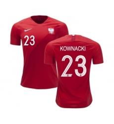 Poland #23 KOWNACKI Away Soccer Country Jersey