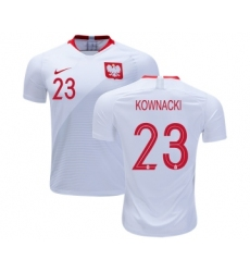 Poland #23 KOWNACKI Home Soccer Country Jersey