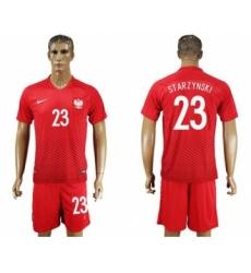 Poland #23 Starzynski Away Soccer Country Jersey