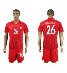 Poland #26 Marciniak Away Soccer Country Jersey