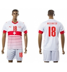 Switzerland #18 Mehmedi Away Soccer Country Jersey