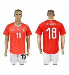 Switzerland #18 Mehmedi Red Home Soccer Country Jersey