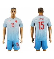 Turkey #15 Topal Away Soccer Country Jersey