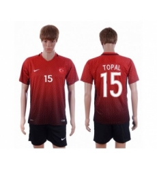 Turkey #15 Topal Home Soccer Country Jersey