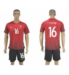 Turkey #16 Tufan Home Soccer Country Jersey