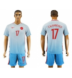Turkey #17 Calhanoglu Away Soccer Country Jersey