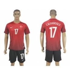 Turkey #17 Calhanoglu Home Soccer Country Jersey
