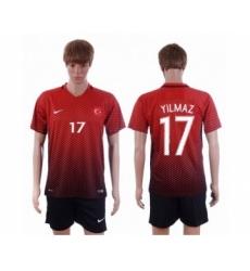 Turkey #17 Yilmaz Home Soccer Country Jersey