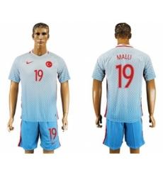 Turkey #19 MALLI Away Soccer Country Jersey
