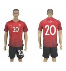Turkey #20 Sen Home Soccer Country Jersey